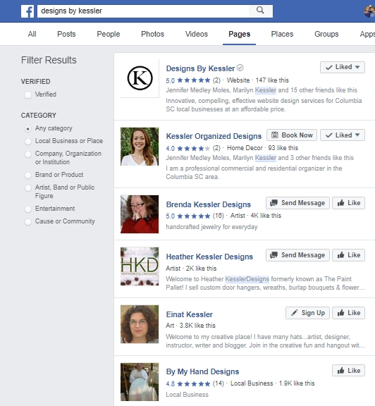 Facebok Business Places Search