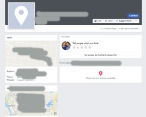 Unofficial Facebook Page Example
