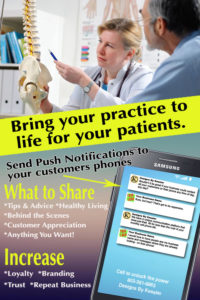 Push Notifications for Chiropractors Infographic