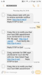 SMS Appointment Reminder Text