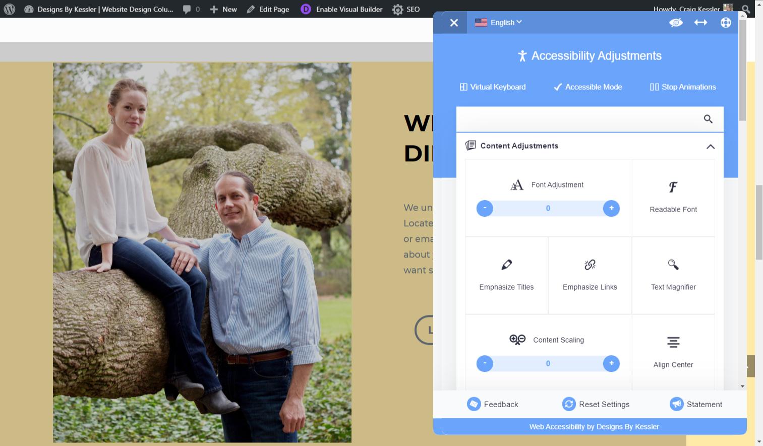 accessibilty technology screenshot